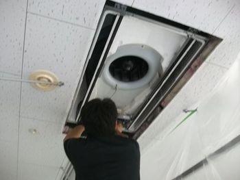 蕨市内病院エアコン洗浄