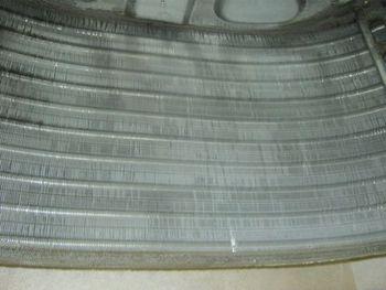 栃木県 倉庫に設置の天カセ型エアコン洗浄