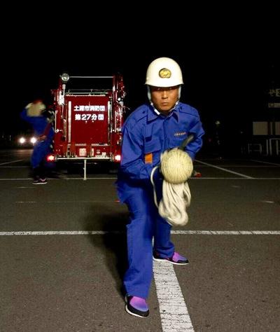 7月の土浦市消防操法大会