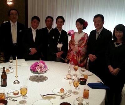竹神裕輔さんと麻貴さんの披露宴
