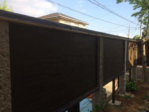 植木屋が塗る壁