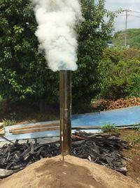2回目の竹炭焼き