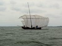 霞ヶ浦の帆引き船