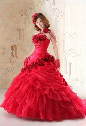 カラードレス やはり赤