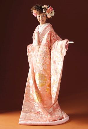桜色の色打掛