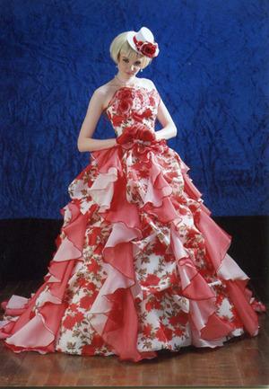 英国調のドレス