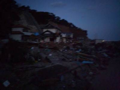 塩屋岬周辺(いわき市豊野)被害状況