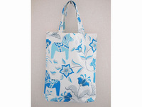 総柄BAG(L)-white*babyblue-