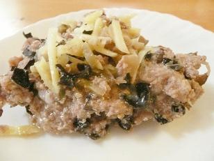 (67)新生姜風味 ザーサイと豚ひき肉の蒸物