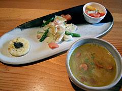 Groovy つくば店 - 前菜と本日のスープ