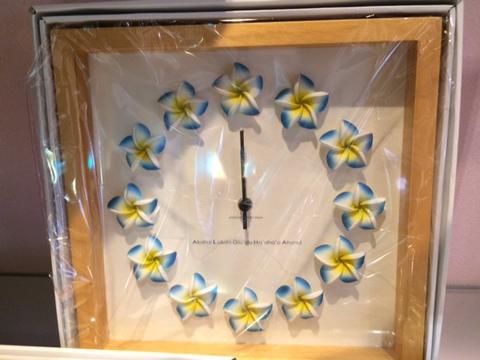 プルメリア時計1