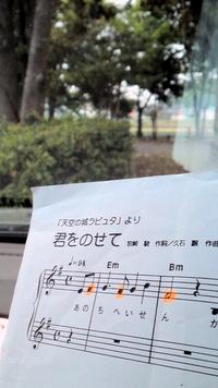 今日、近くの公園で練習してました。