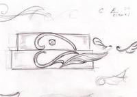 ハートと天使のマリッジリングデザイン