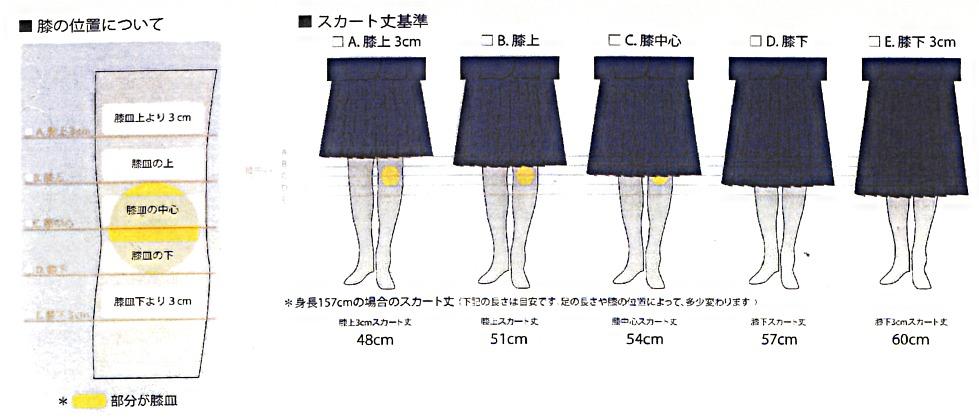 高校生のスカート丈にご注意下さ...
