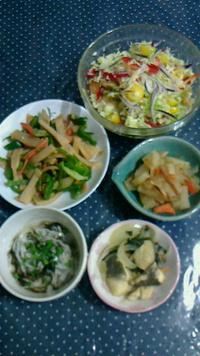 今夜の野菜づくしメニュー