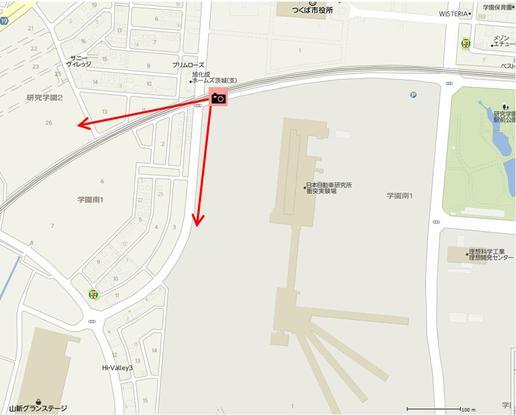 【今昔19】研究学園駅からグランステージに向かう道には昔の名残がある!(10/23のブログと見比べて!)
