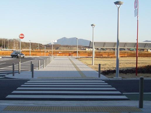 駅から筑波山を望む