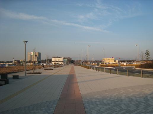 駅前ストリート(2007年1月16日撮影)