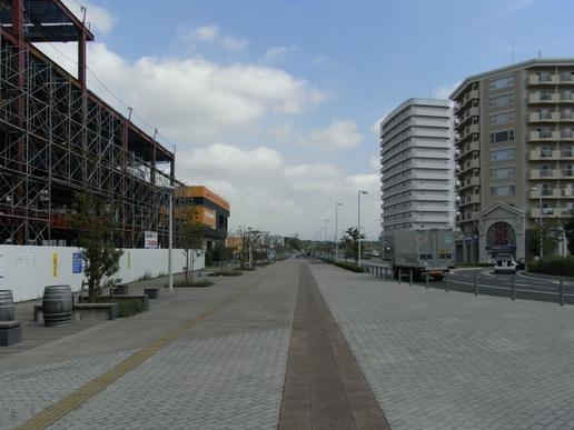 駅前ストリート(2010年8月28日撮影)