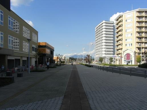駅前ストリート(2010年10月11日撮影)