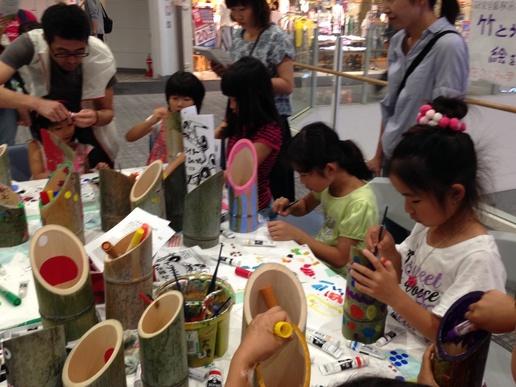 研究学園駅前トワイライト音楽祭を演出する竹灯ろうの絵付けに参加しよう!