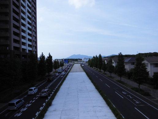 路跨橋から筑波山方面を望む(2015年6月7日撮影)