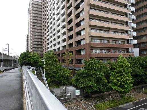 路跨橋から駅方面を望む(2015年6月12日撮影)