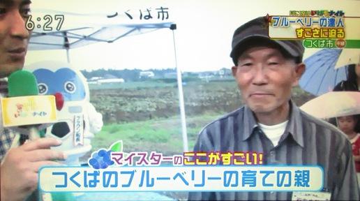 NHK出演!!つくばのマイスターとピンクのブルーベリー
