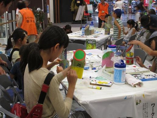 研究学園駅前で開催されるトワイライト音楽祭を演出する竹灯ろうは力作ぞろいです!