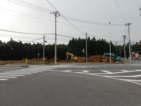イエローハットの近くで工事が始まった!(よかっぺ研究学園より)