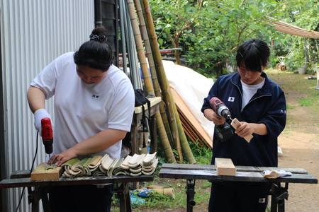 トワイライト音楽祭、盆ライブで使用する竹灯篭を筑波高校「JRC部」とコラボ!