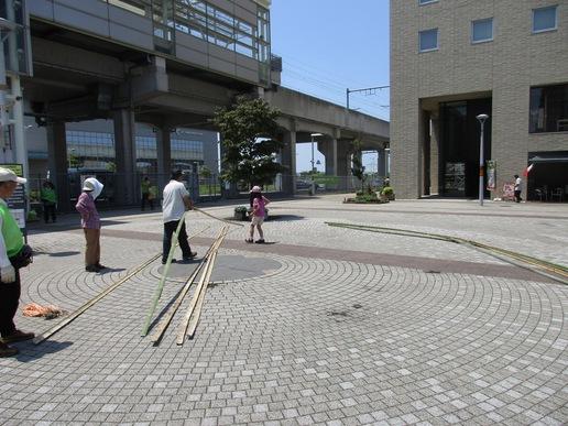 研究学園トワイライト音楽祭の竹ドームを練習で組み立ててみました!