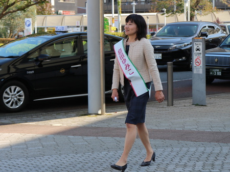 タウンの会代表「島田ゆみこ」さんが研究学園住民の声を市政へ届けたいそうです!