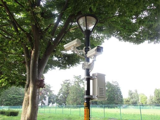 つくば駅周辺ペデストリアンデッキに設置された防犯カメラは犯罪発生率上位の汚名返上に一役買う?