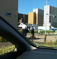 「セグウェイ」に乗ったサラリーマンが横を通り過ぎていく研究学園の変な光景!