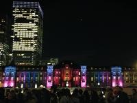 東京駅のライトアップ綺麗です!研究学園から1時間で行くことができます!