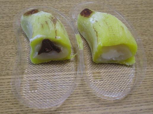 形も味もまるでバナナ!イーアスの和菓子屋さん「口福堂」の「冷やしバナナ大福」