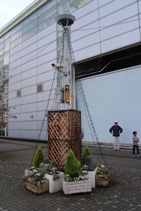 グリーンの会のイルミネーション。今年はきれいな三角錐になりました!