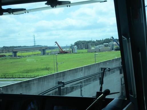 TX先頭車両から万博記念公園駅近くの圏央道工事の様子を眺めてみた!工期遅れの大問題発生!!
