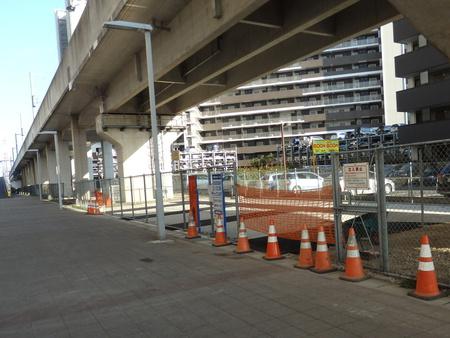 研究学園駅駐輪場拡張工事は完了間近!