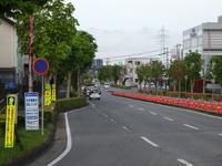 新都市中央通りと西大通りの交差点の右折ラインが延伸される!