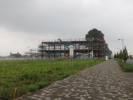 小野酒店北側の複合店舗建設の様子!