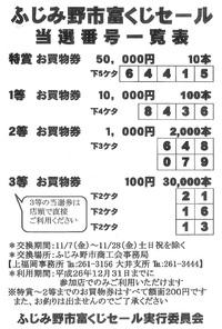 富くじ当選番号発表!!
