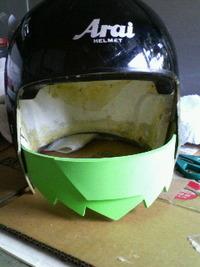 仮◎ライダー風ヘルメットを作ってみた