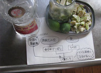 青レモンの老酒漬け/摘果レモン利用実験3