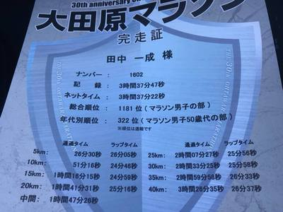 ●大田原マラソン走って来ました~●