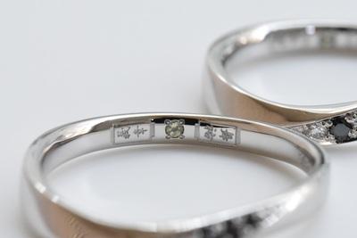 ☆ブラックダイアの結婚指輪☆