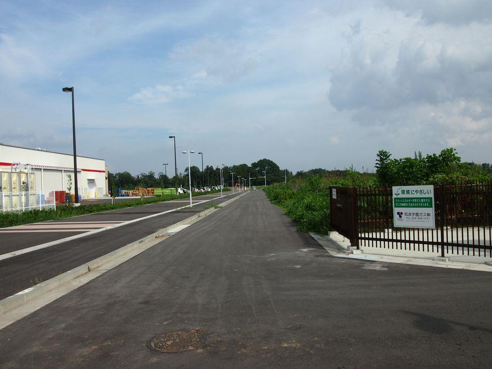 研究学園 コストコ南側の道路の様子