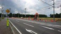 研究学園 万博記念公園駅に向けて、面野井台交差点の工事再開!
