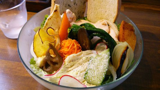 つくば Roji 菜園テーブルで もりやさいランチ   だ!